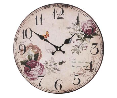 Zegar ścienny Roses Grey