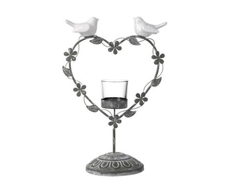 Stojan na sviečku Lovebirds