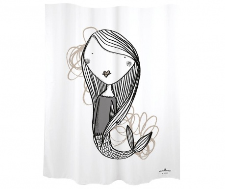 Завеса за баня Mermaid White 180x200 см