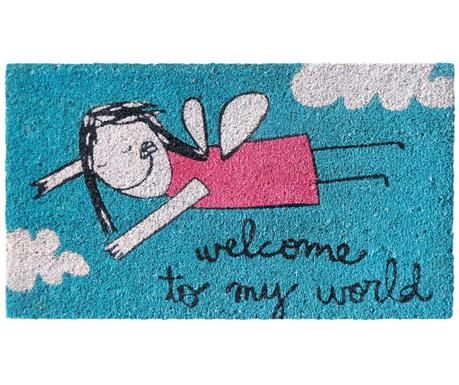 Covoras de intrare My World Blue 40x70 cm