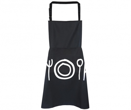 Kuhinjska pregača Cutlery Black