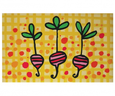Linoleum Radishes