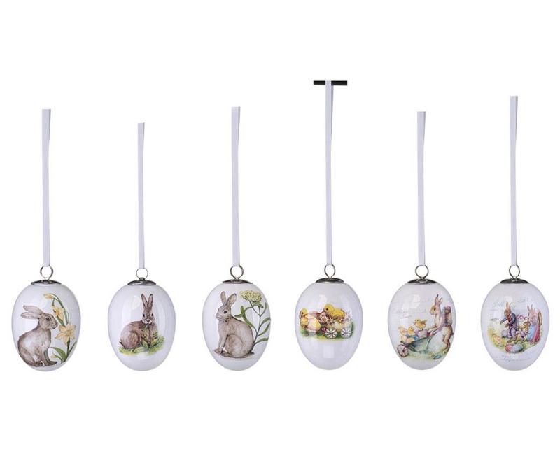 Set 6 decoratiuni suspendabile Rabbit Decal