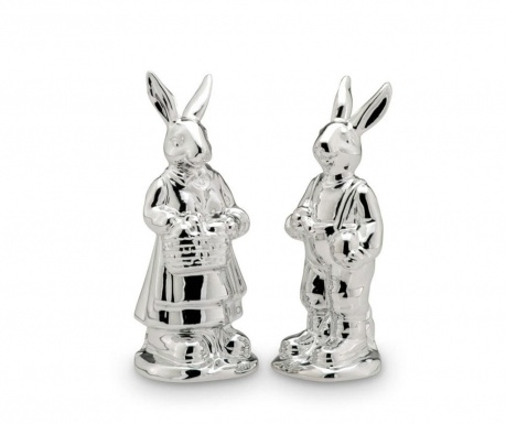 Set 2 decoratiuni Rabbit Pair