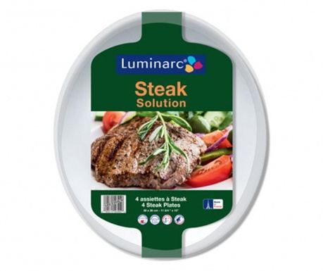 Sada 4 podnosů Steak Solutions