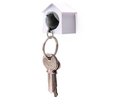 Mini Sparrow White Black Kulcstartó tartóval