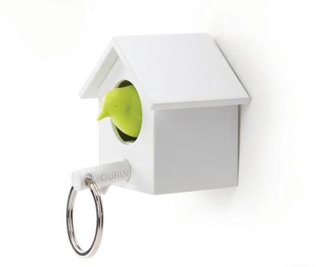 Whistle White Green Kulcstartó tartóval