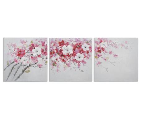 Set 3 tablouri Peach Tree 60x60 cm