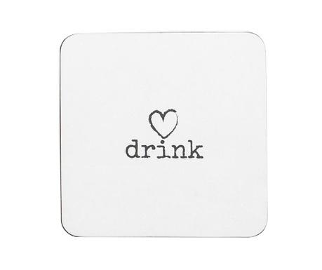 Set 4 podmetača za čaše Drink Heart