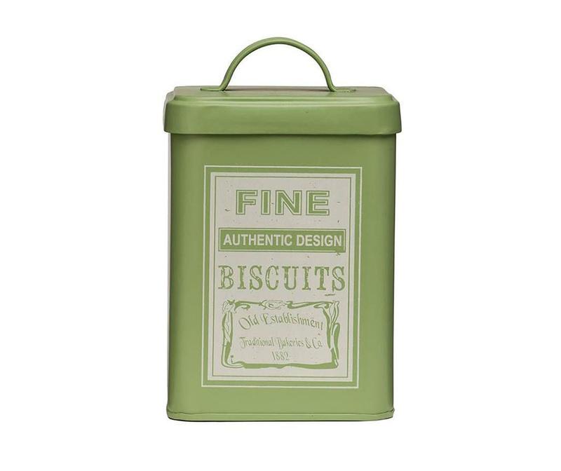 Recipient cu capac pentru biscuiti Whitby Green