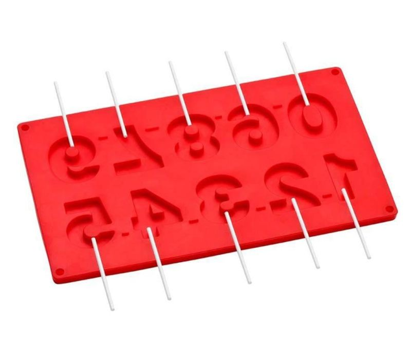 Forma pentru 10 prajituri pe bat Numbers Red