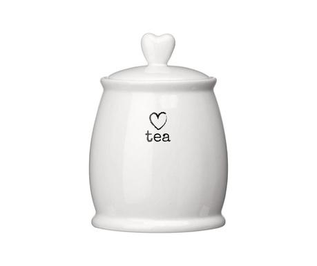 Dóza s vrchnákom na čaj Charm