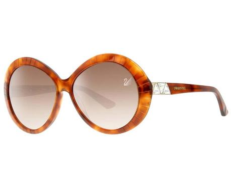Ochelari de soare dama Swarovski Round Honey