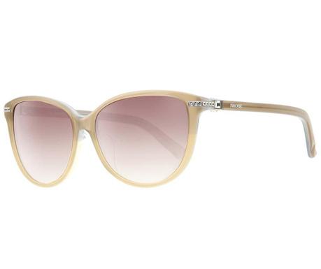 Okulary przeciwsłoneczne damskie Swarovski Butterfly Beige