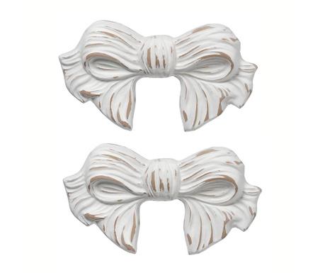 Set 2 zidna ukrasa Ribbon Antique White