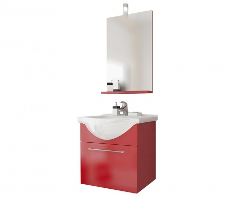 Set mobilier pentru baie 3 piese Ginerva Red