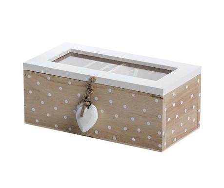 Кутия с капак за чай Mikel Rectangular