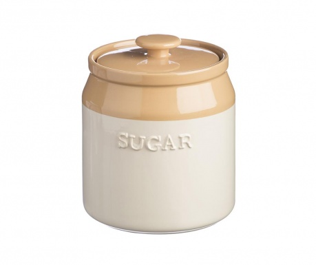 Posuda za šećer s poklopcem Original Cane Beige