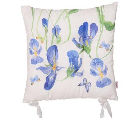 Iris and Butterfly Ülőpárna 37x37 cm