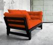 Sofa extensibila Beat Black and Orange