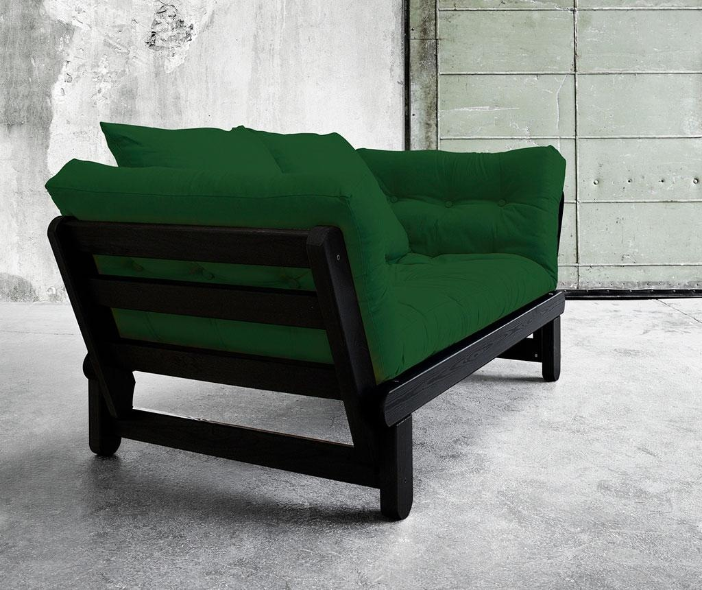 Sofa extensibila Beat Black and Botella Green
