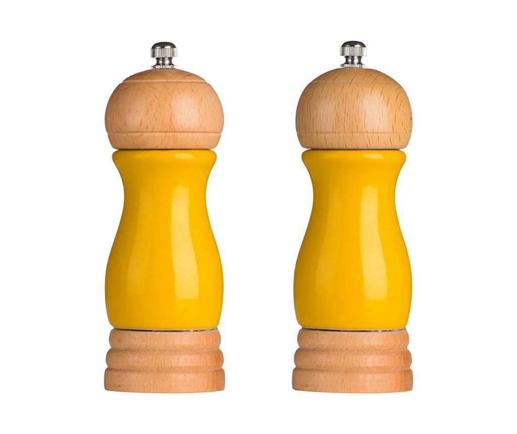 Set 2 mlinca za sol i papar Milo Yellow