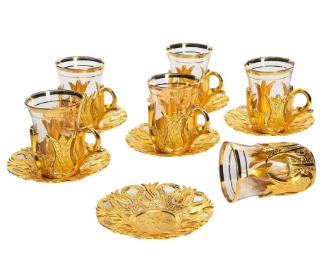 Čajová sada 12 ks Galip Golden