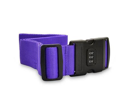 Curea cu lacat pentru bagaje Safety Purple