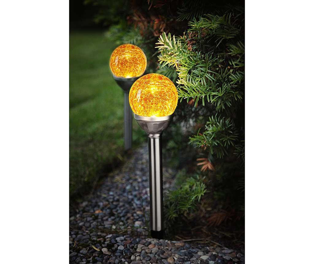 Set 2 lampi solare Roma Amber