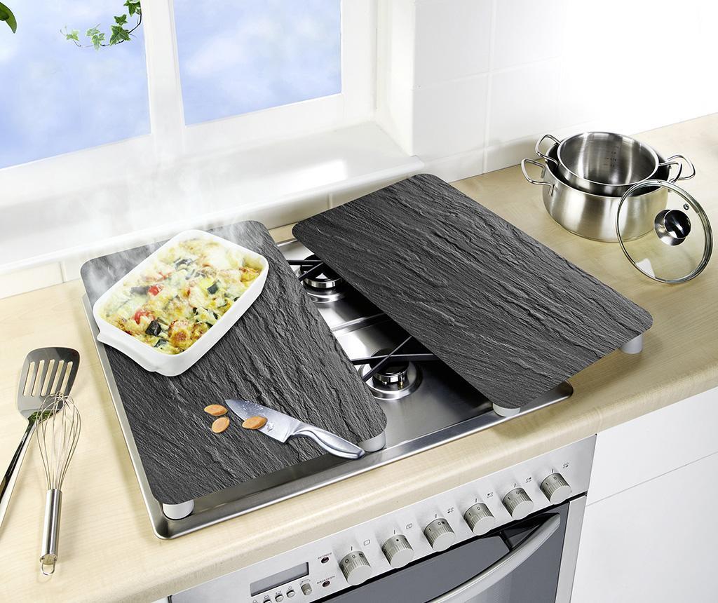 Set 2 zaščitnih podlog za kuhališča Grey