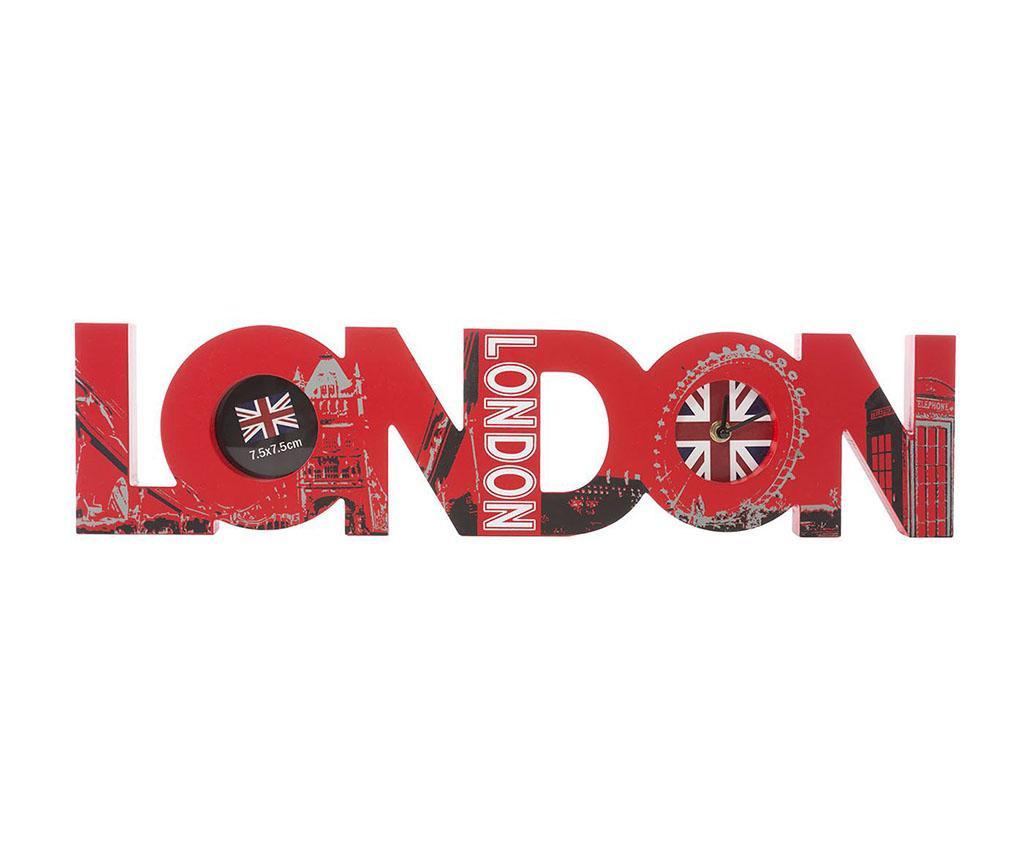 London Asztali óra fényképtartóval