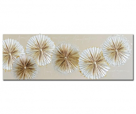Tablou Agnola Flowers 60x150 cm