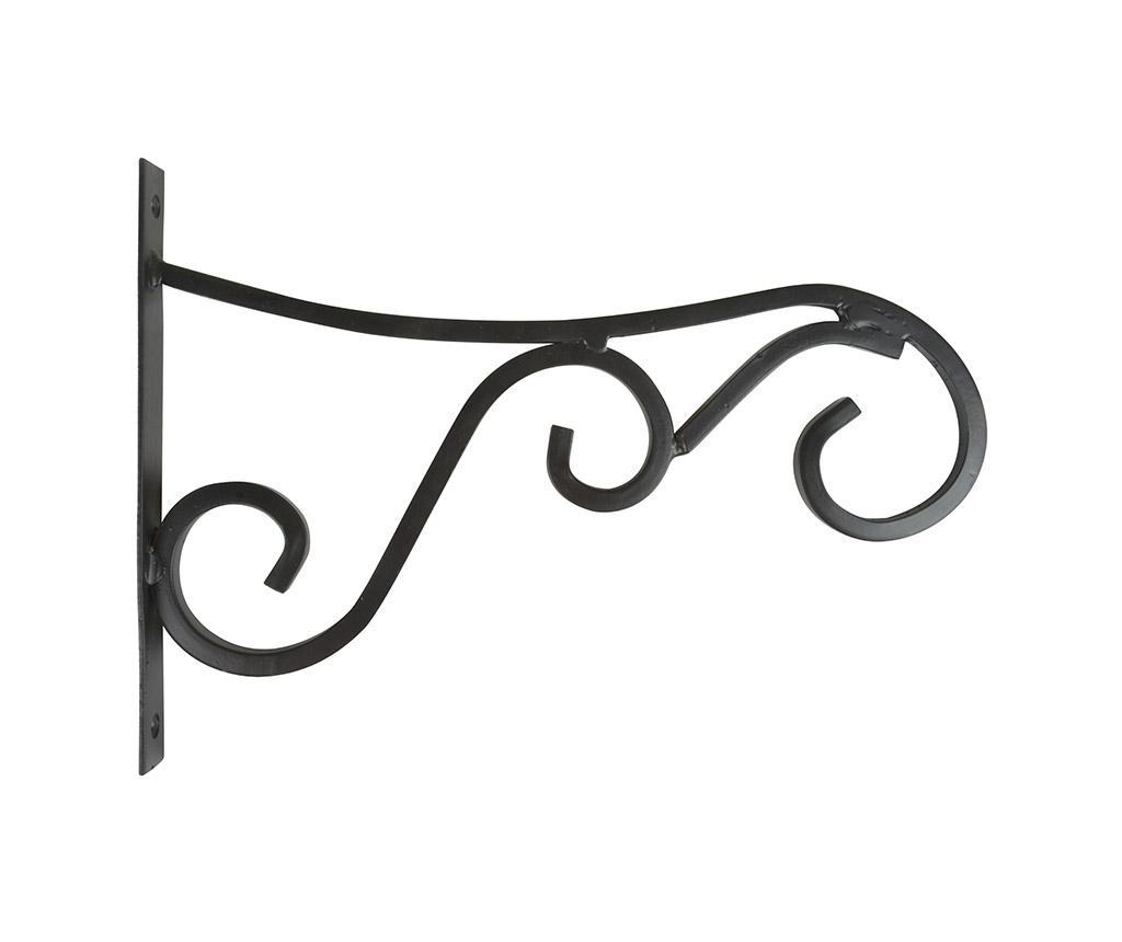 Zidni držač za posude za cvijeće Curly L