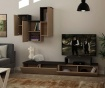 Tirtil Natural Anthracite TV Komód és  felfüggeszthető szekrény