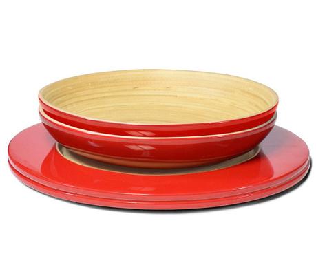 set de masa 4 piese bamboo life red vivre. Black Bedroom Furniture Sets. Home Design Ideas