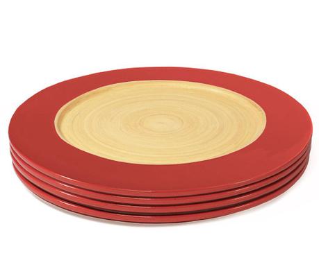 Сервиз 4 плитки чинии Bamboo Life Red