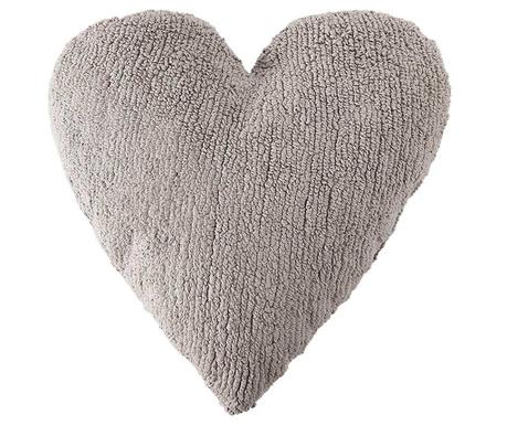 Heart Light Grey Díszpárna 47x50 cm