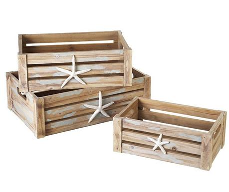 Zestaw 3 skrzynek do przechowywania Nevan Starfish