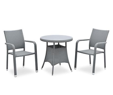 Sada stôl a 2 stoličky do exteriéru Bistro