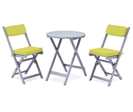 Zestaw stół z 2 krzesłami ogrodowymi Minoa