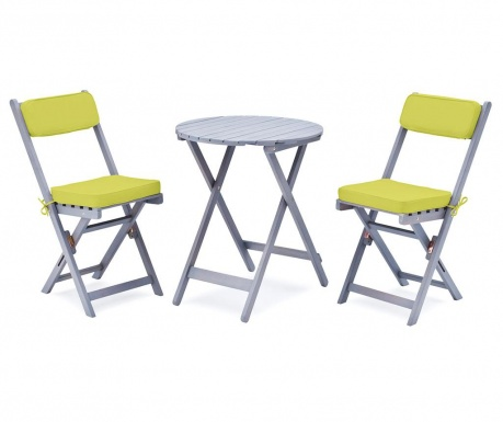 Sada stôl a 2 stoličky do exteriéru Minoa