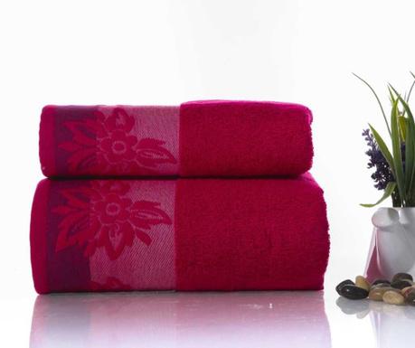 Zestaw 2 ręczników kąpielowych Papyrus Fuchsia