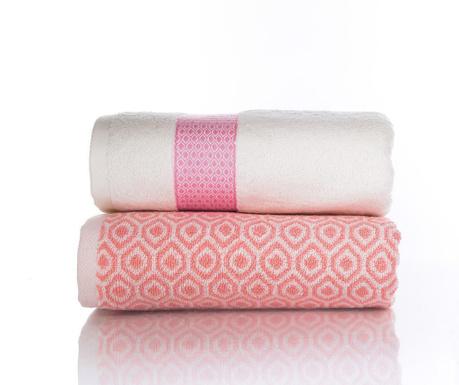 Zestaw 2 ręczników kąpielowych Harris Pink Orange 50x90 cm