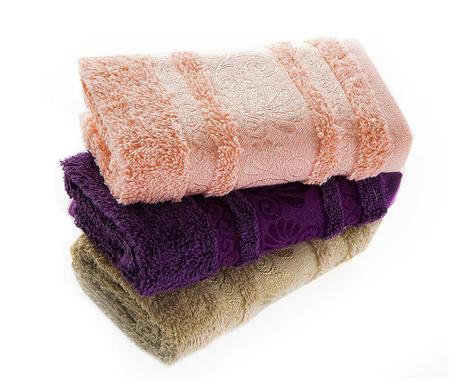 Zestaw 3 ręczników kąpielowych Brightfalls Colored 30x50 cm