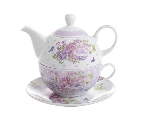 Set ceainic cu ceasca si farfurioara Blossom