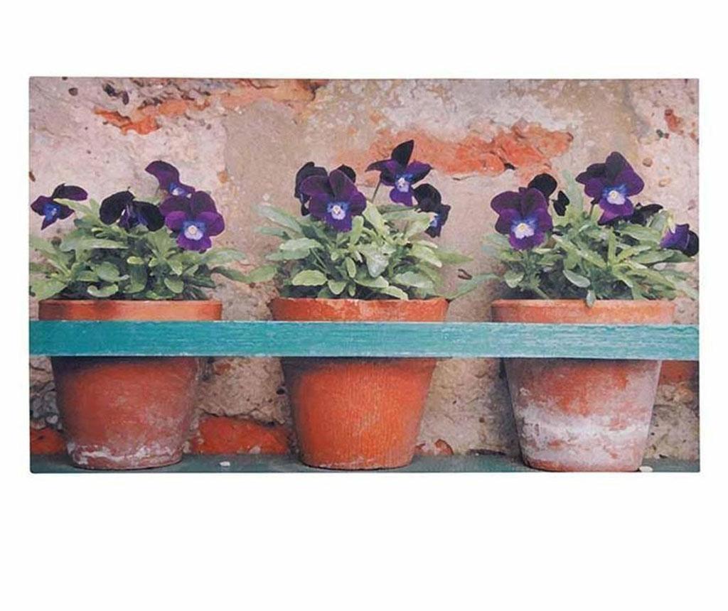 Predpražnik Flower Pots 45x75 cm