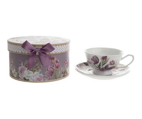 Set - skodelica in krožniček Tulips