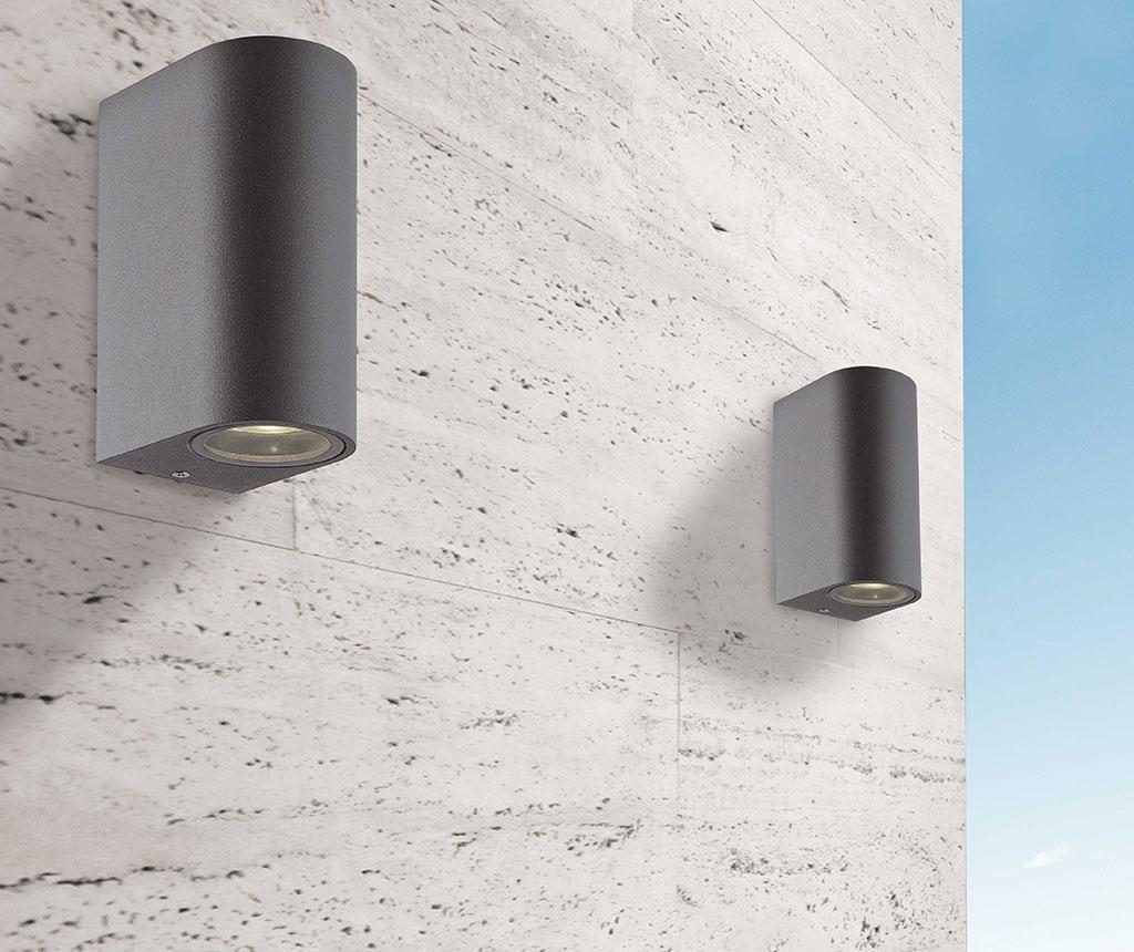 Aplica de perete pentru exterior Tilos Gliss Tall Dark Grey