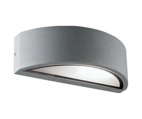 Zunanja stenska svetilka Rhodes Half Silver