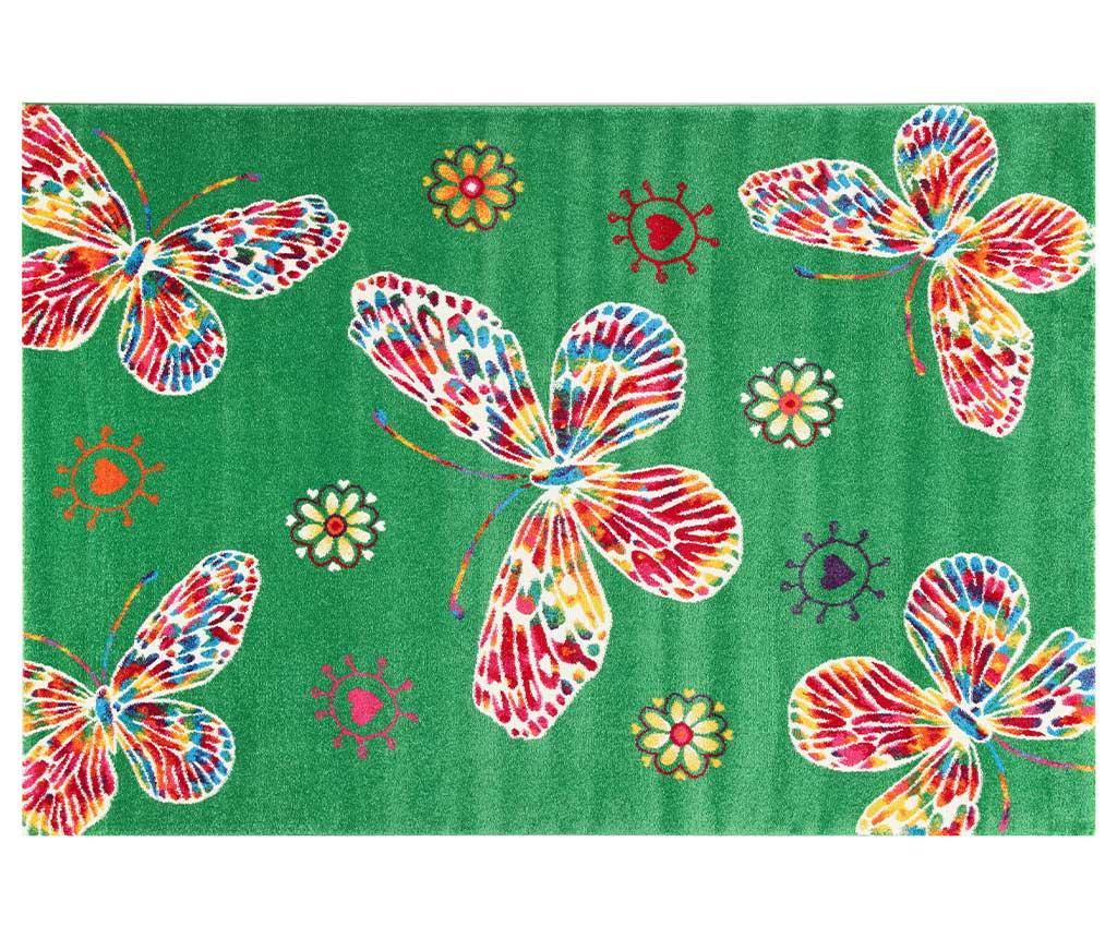 Farfalle Green Szőnyeg 133x190 cm